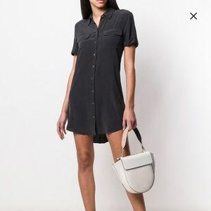 Equipment silk shirt dress